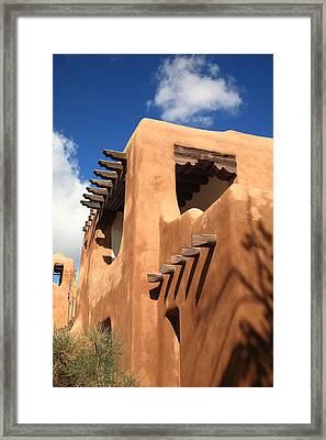 Santa Fe - Adobe Building Framed Print