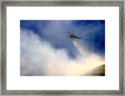 Barnett Fire Framed Print by Henrik Lehnerer