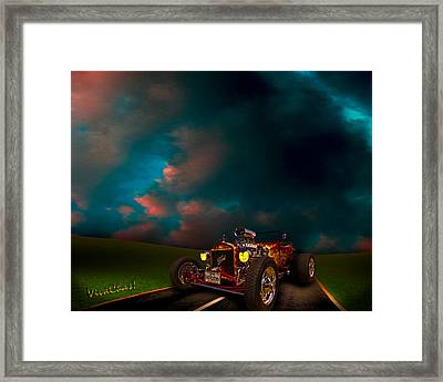 23 Model-t Ford Roadster Hot Rod Framed Print