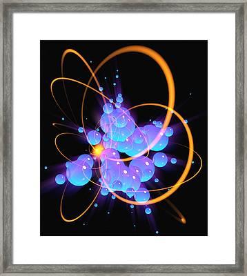 Subatomic Particles Abstract Framed Print by Mehau Kulyk