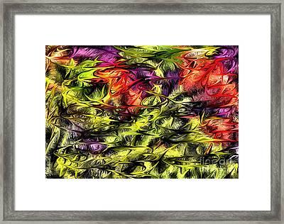 Framed Print featuring the digital art 2312 by Leo Symon