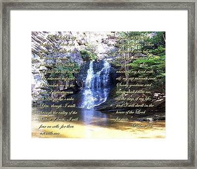 Framed Print featuring the photograph 23rd Psalm by Chad and Stacey Hall