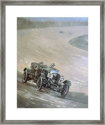 24 Hour Race At Brookland Framed Print