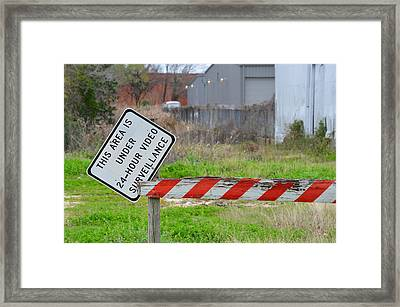 24 Hour Surveillance Framed Print