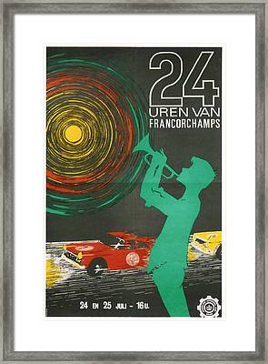 24 Hours Of Spa - Francorchamps Framed Print by Georgia Fowler