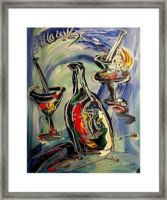 Wine Framed Print by Mark Kazav