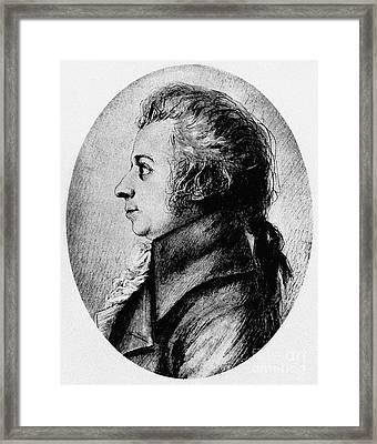 Wolfgang Amadeus Mozart Framed Print
