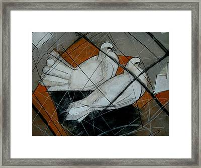 Thirst Of Peace  Framed Print
