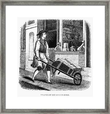 Benjamin Franklin (1706-1790) Framed Print by Granger