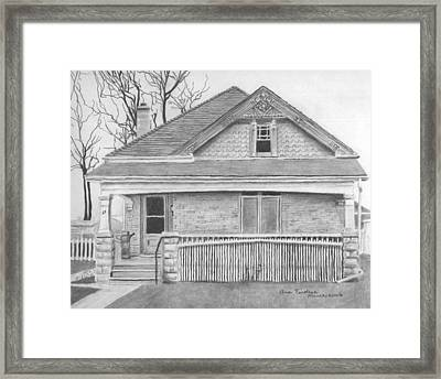 Framed Print featuring the drawing 27 Redan by Ana Tirolese