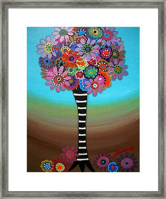 Tree Of Life Framed Print by Pristine Cartera Turkus