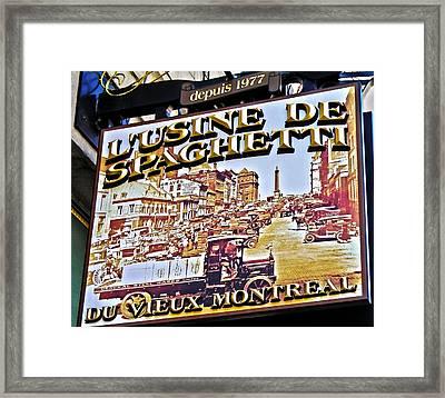 273 Rue Saint Paul Est ... Framed Print by Juergen Weiss