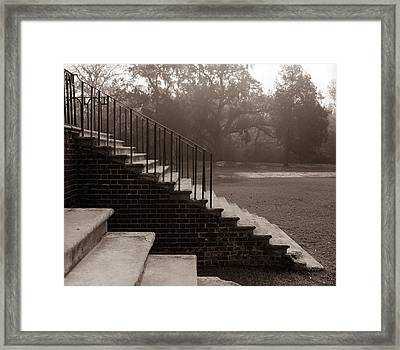 28 Up And Down Steps Framed Print by Jan W Faul