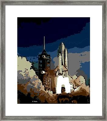 28th Mission Takeoff Framed Print