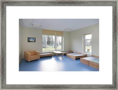 A  Modern Building A Pre-school Framed Print by Jaak Nilson