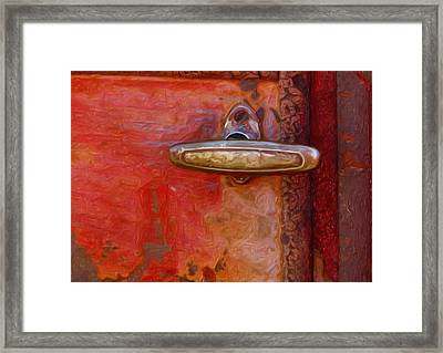 29 International Truck Handle Framed Print by Jack Zulli