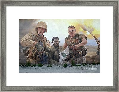 29 Palms Mural 2 Framed Print by Bob Christopher