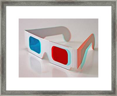 2d And 3d Glasses Framed Print by Retales Botijero