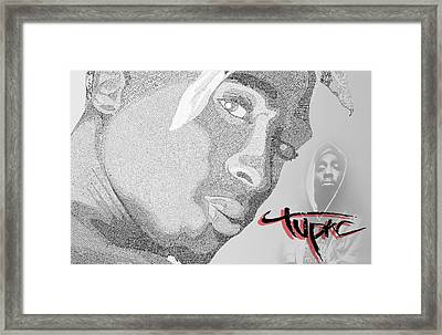 2pac Text Picture Framed Print by Aaron Parrill