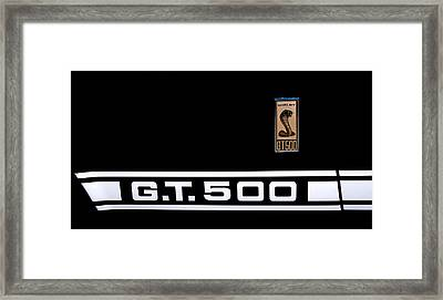 1967 Ford Mustang Shelby Gt500 Framed Print by David Patterson