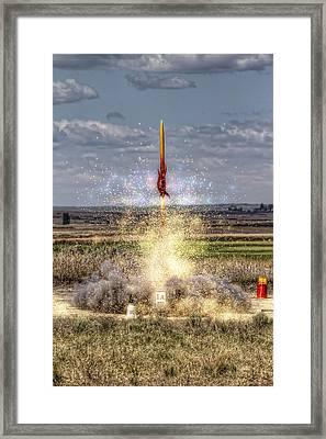 3 2 1 Launch Framed Print