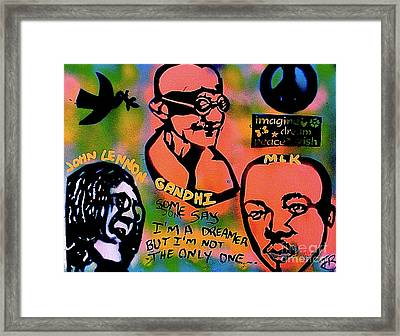 3 4 Peace Framed Print