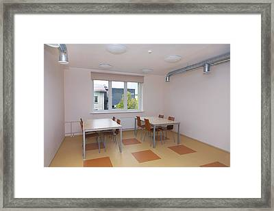 A Hostel For Teenagers School Age Young Framed Print