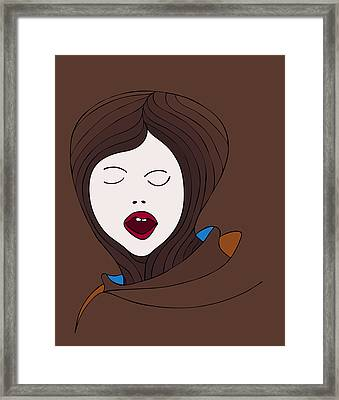 A Woman Framed Print