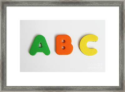Abcs Framed Print by Photo Researchers, Inc.