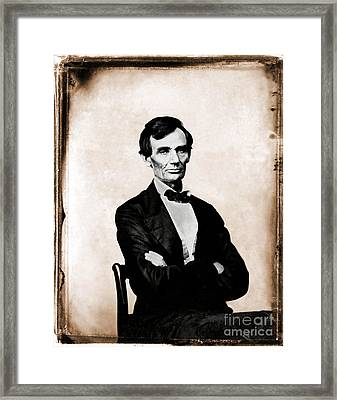 Abraham Lincoln, 16th American President Framed Print by Photo Researchers