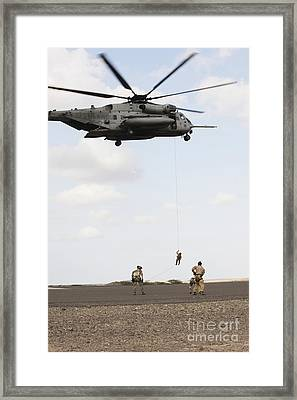Air Force Pararescuemen Conduct Framed Print by Stocktrek Images