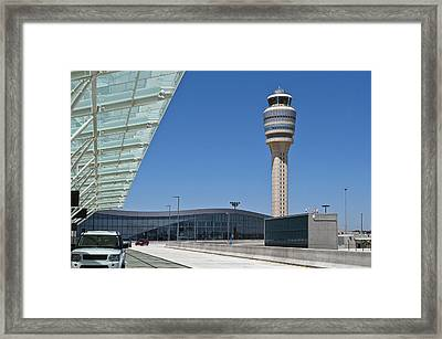 Airport Control Tower. Framed Print