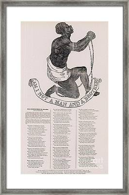Am I Not A Man And A Brother Framed Print