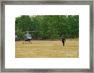 An Agusta A109 Helicopter Framed Print by Luc De Jaeger