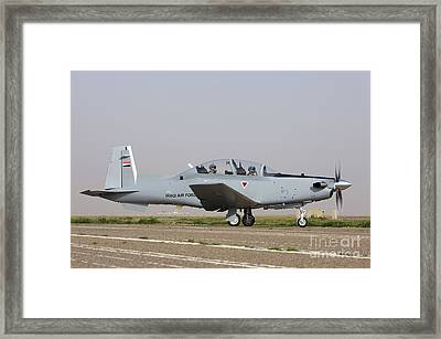 An Iraqi Air Force T-6 Texan Trainer Framed Print by Terry Moore