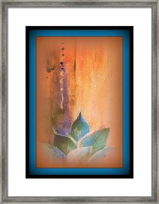 Ancient Lotus Framed Print by Wendy Wiese