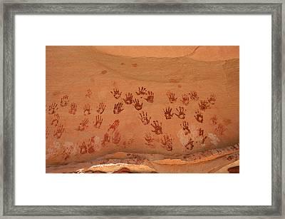 Ancient Pueblo-anasazi Rock Art Framed Print by Ira Block