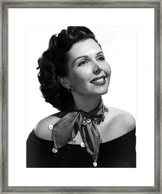 Ann Miller, Portrait Framed Print by Everett