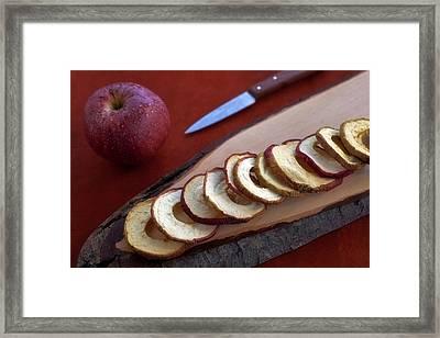 Apple Chips Framed Print