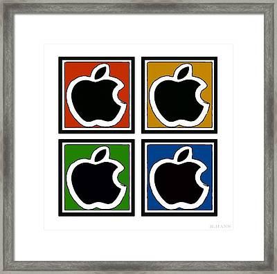 Apple Colors Framed Print