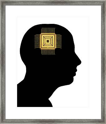 Artificial Intelligence And Cybernetics Framed Print by Victor De Schwanberg