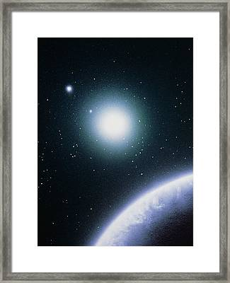 Artist's Impression Of The Formation Of A New Star Framed Print