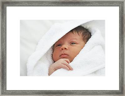 Baby Boy Framed Print by Ruth Jenkinson