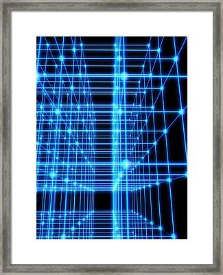 Ball And Stick Structure Framed Print by Pasieka