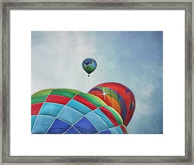 3 Balloons At Readington Framed Print by Pat Abbott
