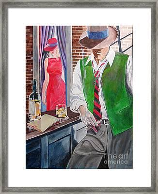 Bar 2 Framed Print by Kostas Dendrinos