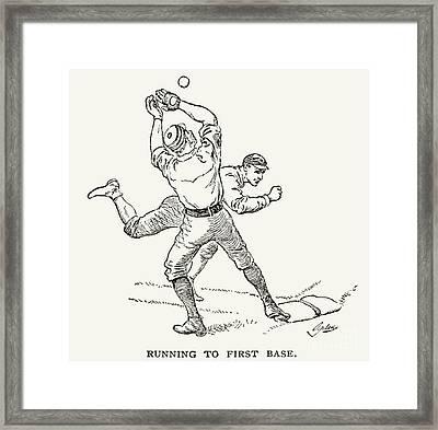 Baseball Players, 1889 Framed Print by Granger