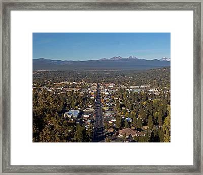 Bend Oregon From Pilot Butte Framed Print