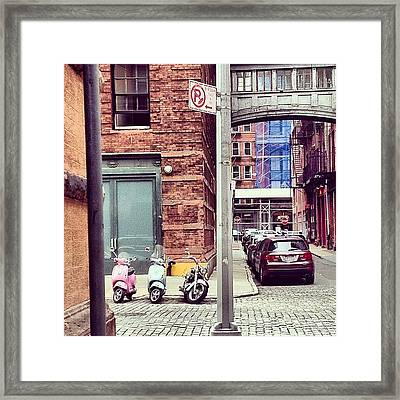 3 Bikes 1 Car Framed Print