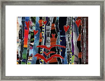 3 Birds And Prey Framed Print by Kenneth James